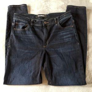 Express straight leg stretch jeans 10R